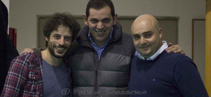 nella foto Francesco La Giglia con il presidente Aiello e il vice Pulvirenti