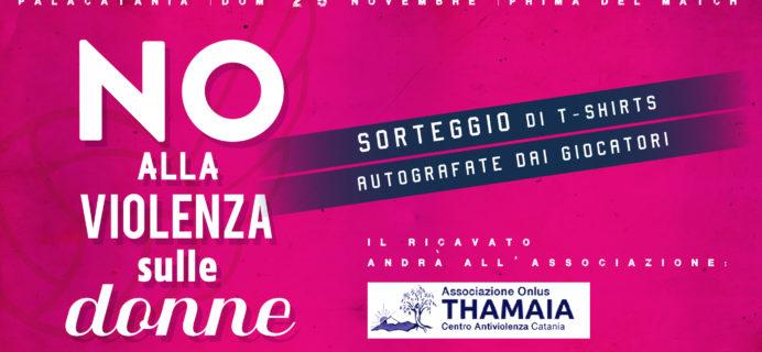 Volley Catania - No alla violenza sulle donne