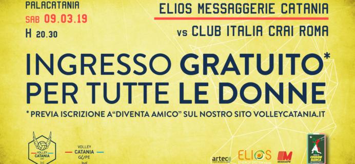Volley Catania - Ingresso Gratuito per tutte le donne